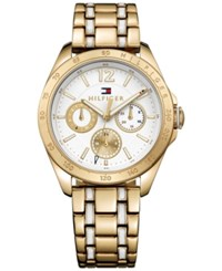Tommy Hilfiger Women's Sophisticated Sport Two Tone Stainless Steel And Tr90 Bracelet Watch 36Mm 1781665 Gold