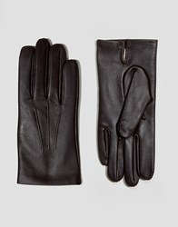 Dents Bath Leather Gloves With Cashmere Lining Brown