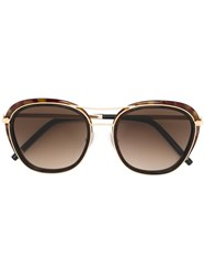Boucheron Oversized Sunglasses Brown