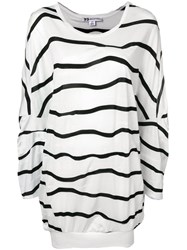 Y 3 Striped Oversized T Shirt White