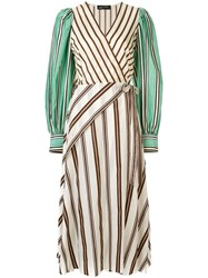 Anna October Striped Wrap Dress Multicolour