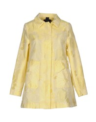Femme By Michele Rossi Overcoats Yellow