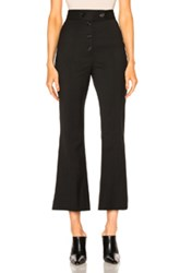 Proenza Schouler Lightweight Wool Suiting Flared Pant In Black