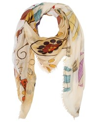 Bob Strollers Floral Printed Modal And Silk Scarf
