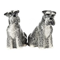 Quail Ceramics Schnauzer Salt And Pepper Shakers