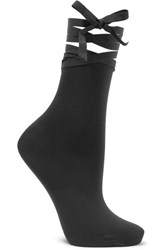 Wolford Lace Up Socks Black