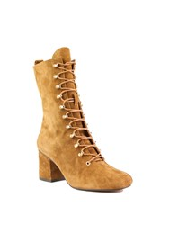 Shellys London Alperton Lace Up Mid Calf Boots Brown