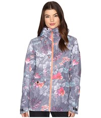 Roxy Esssence Jacket Hawaiian Tropik Women's Coat Black