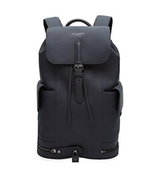 Ted Baker Luxury Leather Backpack Navy