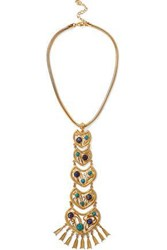 Ben Amun Gold Tone Stone Necklace Gold