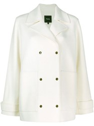 Theory Short Peacoat White
