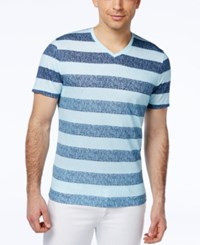 Alfani Red Men's Xavier Striped V Neck T Shirt Only At Macy's