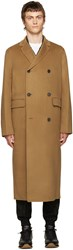 Acne Studios Tan Wool Carl Coat