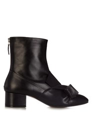 N 21 Bow Leather Ankle Boots Black