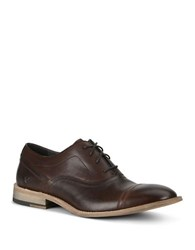 Andrew Marc New York Henry Lace Up Leather Oxfords Espresso