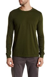 Joe Fresh Long Sleeve Crew Neck Tee Green