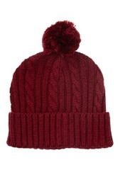 Rogue Pompom Hat Red