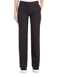 Helmut Lang Stretch Wool Gabardine Flare Pants Black