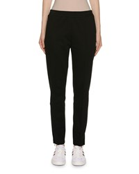 Moncler Cotton Skinny Leg Track Pants Black
