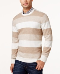 Club Room Cashmere Marled Stripe Sweater Only At Macy's Ivory