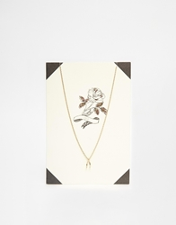 Orelia Lucky Rose Necklace Giftcard Gold