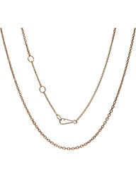 Annoushka Classic Gradient 18Ct Rose Gold Chain Necklace