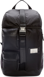Y 3 Black Cargo Mobility Backpack
