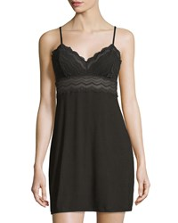 Cosabella Cylon Lace Trim Babydoll Nightie Black Women's Size Large