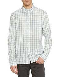 Kenneth Cole Checked Slim Fit Shirt Palm Combo