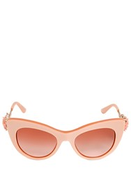 Dolce And Gabbana Flower Detail Cat Eye Acetate Sunglasses