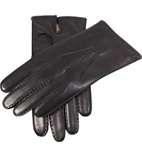 Dents Cashmere Lined Nappa Leather Gloves Black