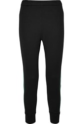 Prada Striped Cotton Blend Jersey Track Pants Black