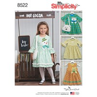 Simplicity Children's Dress And Purse Sewing Pattern 8522
