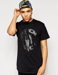 Crooks And Castles T Shirt With Silencer Print Black