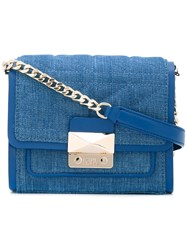 Karl Lagerfeld Quilted Crossbody Bag Blue