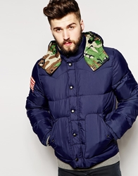 Denim And Supply Ralph Lauren Parka With Down Fill Navy