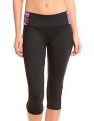 Danskin Yogi Petal Cropped Leggings Rich Black