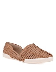 Elliott Lucca Rani Woven Leather Flats Alpaca