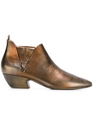 Marsell Marsa Ll Metallic Ankle Boots Brown