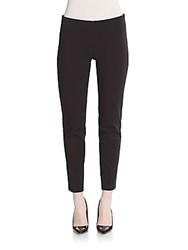 Saks Fifth Avenue Black Stretch Cotton Pants Black