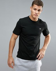 Lacoste Sport Logo T Shirt In Black
