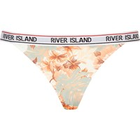 River Island Womens Pink Floral Print Sporty Low Rise Brief