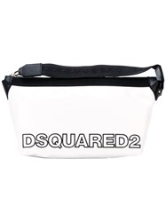 Dsquared2 Two Tone Logo Wash Bag White