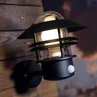 Amara Blokhus Sensor Outdoor Wall Light Black