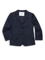 Burberry Little Boy's And Boy's Button Front Tuxedo Jacket Navy