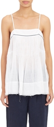 Pas De Calais Pleated Gauze Camisole Top White