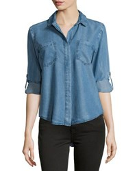 Velvet Heart Riley Chambray Blouse Faded