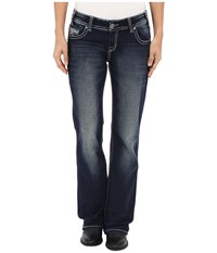 Rock And Roll Cowgirl Riding Bootcut In Dark Vintage W7 6439 Dark Vintage Women's Jeans Navy