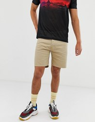 Weekday Vacant Shorts In Sand Tan