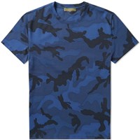 Valentino Camouflage Tee Blue